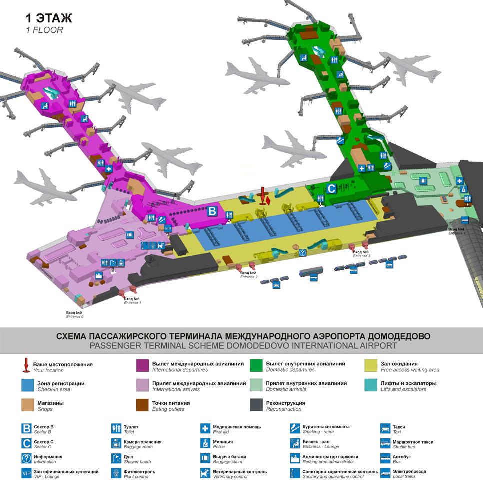 В московском международном аэропорту Домодедово взорвалась бомба, есть жертвы.  Взрыв прогремел около 16.30 вечера...